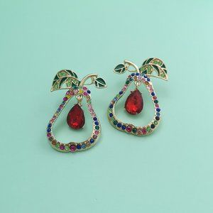 Fashion Hollow Pendant Pear Earrings